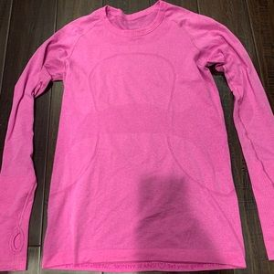 Pink Lululemon Swiftly Long Sleeve shirt size 8